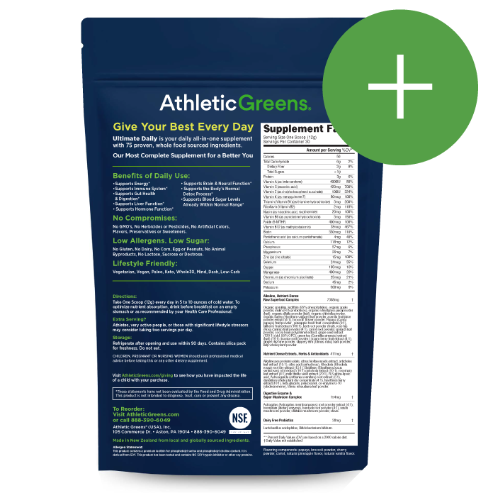 It's just an image of Remarkable Athletic Greens Ingredients Label